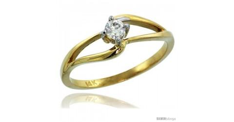 3//16 in. w// 0.03 Carat Brilliant Cut Diamonds Size 12.5 wide 14k Gold Mens Diamond Band 5mm