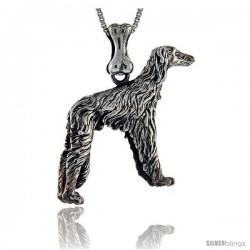 Sterling Silver Borzoi Dog Pendant