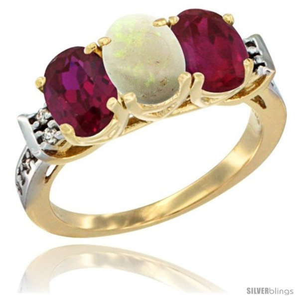 https://www.silverblings.com/67117-thickbox_default/10k-yellow-gold-natural-opal-ruby-sides-ring-3-stone-oval-7x5-mm-diamond-accent.jpg