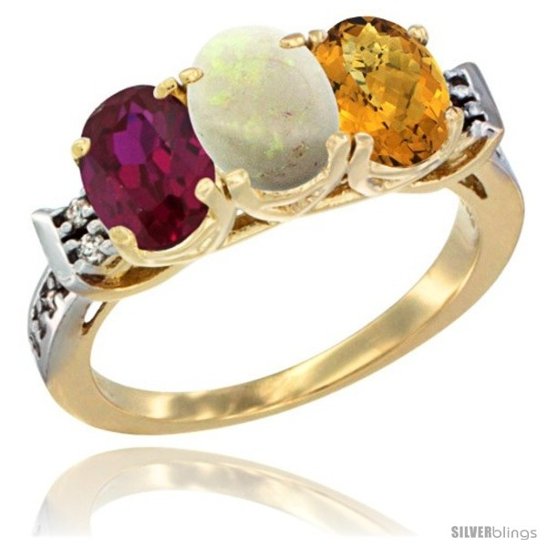 https://www.silverblings.com/67121-thickbox_default/10k-yellow-gold-natural-ruby-opal-whisky-quartz-ring-3-stone-oval-7x5-mm-diamond-accent.jpg