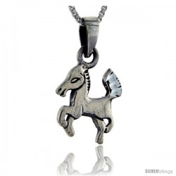 Sterling Silver Horse Pendant, 7/8 in tall - Style PA109