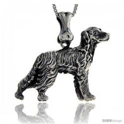 Sterling Silver Setter Dog Pendant