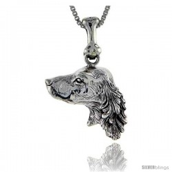 Sterling Silver Setter Dog Pendant -Style Pa1023