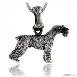 Sterling Silver Schnauzer Dog Pendant
