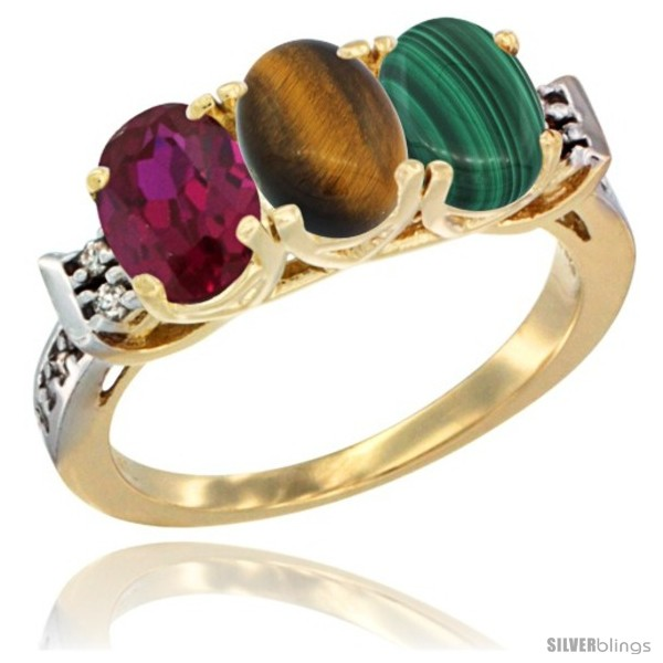 https://www.silverblings.com/67515-thickbox_default/10k-yellow-gold-natural-ruby-tiger-eye-malachite-ring-3-stone-oval-7x5-mm-diamond-accent.jpg