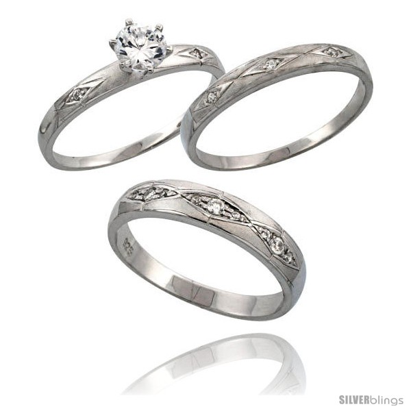 wedding sets his and hers wedding sets cz rings