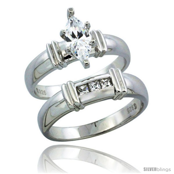 https://www.silverblings.com/67657-thickbox_default/sterling-silver-cubic-zirconia-ladies-engagement-ring-set-2-piece-channel-set-princess-3-16-in-wide.jpg