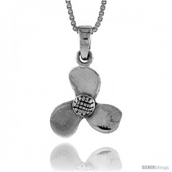 Sterling Silver Boat Propeller Pendant, 1/2 in