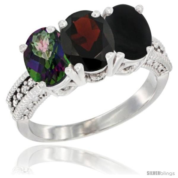 https://www.silverblings.com/68390-thickbox_default/14k-white-gold-natural-mystic-topaz-garnet-black-onyx-ring-3-stone-7x5-mm-oval-diamond-accent.jpg