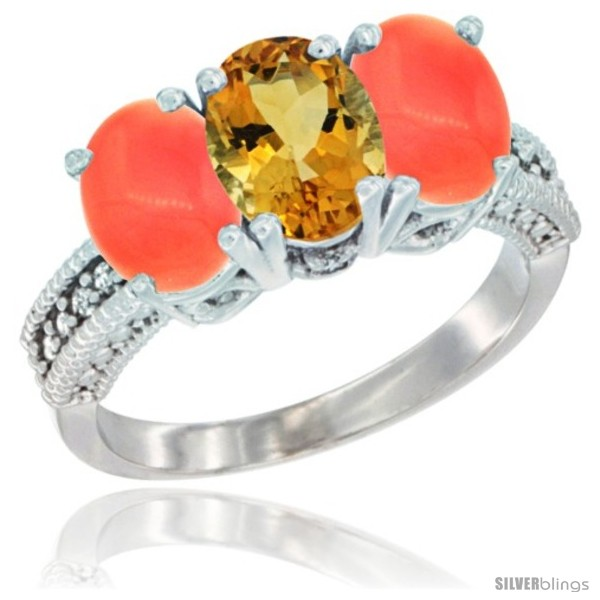 https://www.silverblings.com/68481-thickbox_default/14k-white-gold-natural-citrine-ring-coral-3-stone-7x5-mm-oval-diamond-accent.jpg