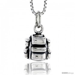 Sterling Silver Back Pack Pendant, 3/8 in tall