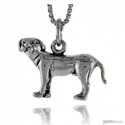 Sterling Silver Anatolian Shepherd Dog Pendant, 3/4 in wide