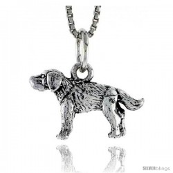Sterling Silver Wire Fox Terrier Pendant, 3/4 in tall