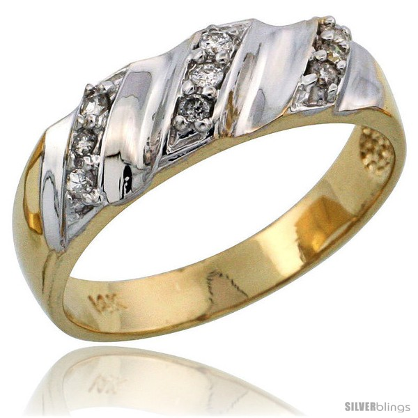 https://www.silverblings.com/6901-thickbox_default/14k-gold-ladies-diamond-band-w-rhodium-accent-w-0-14-carat-brilliant-cut-diamonds-1-4-in-6mm-wide.jpg