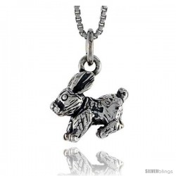 Sterling Silver Rabbit Pendant, 1/2 in wide -Style Pa1488