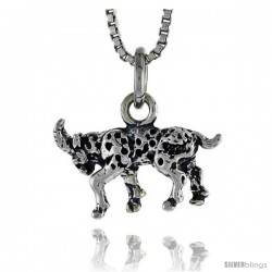 Sterling Silver Goat Pendant, 5/8 in wide