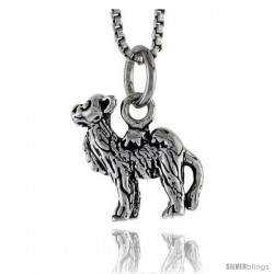 Sterling Silver Camel Pendant, 1/2 in tall -Style Pa1497