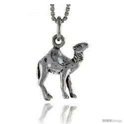 Sterling Silver Camel Pendant, 1/2 in tall -Style Pa1498
