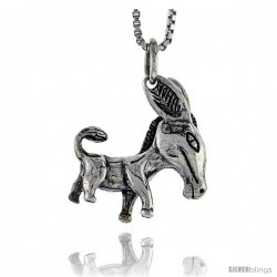 Sterling Silver Donkey Pendant, 3/4 in tall -Style Pa1502