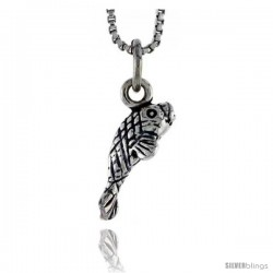 Sterling Silver Manatee Pendant, 1/2 in tall