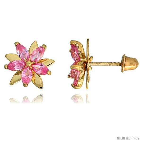 https://www.silverblings.com/69161-thickbox_default/14k-yellow-gold-3-8-9mm-tall-flower-stud-earrings-w-marquise-cut-pink-sapphire-colored-cz-stones.jpg
