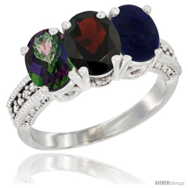 https://www.silverblings.com/69215-thickbox_default/14k-white-gold-natural-mystic-topaz-garnet-lapis-ring-3-stone-7x5-mm-oval-diamond-accent.jpg