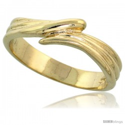 "14k Gold Freeform Wave Ring, 1/4"" (6mm) wide"
