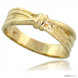 "14k Gold Ribbon Knot Ring, 1/4"" (6mm) wide"