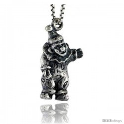 Sterling Silver Clown Pendant, 3/4 in tall -Style Pa1546