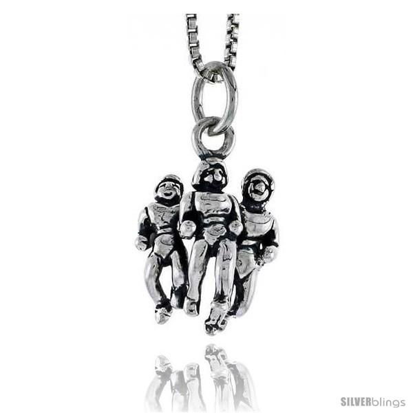 Bonyak Jewelry 18 Inch Rhodium Plated Necklace w// 4mm Purple February Birth Month Stone Beads and Saint Valentine of Rome Charm