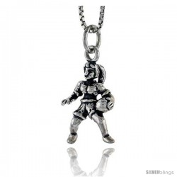 Sterling Silver Basketball Player Pendant, 3/4 in tall -Style Pa1581