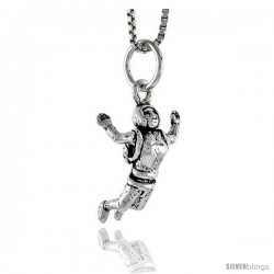 Sterling Silver Base Jumper Pendant, 3/4 in tall