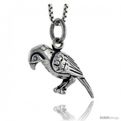 Sterling Silver Bird Pendant, 1/2 in tall