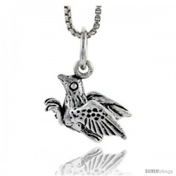 Sterling Silver Bird Pendant, 1/2 in tall -Style Pa1605