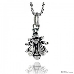 Sterling Silver Fly Pendant, 1/2 in tall
