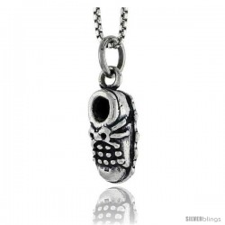 Sterling Silver Shoe Pendant, 1/2 in tall