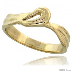 "14k Gold Loop & Swirl Ring, 1/4"" (6mm) wide"