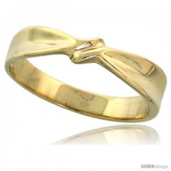 "14k Gold Ribbon Knot Ring, 5/32"" (4mm) wide"