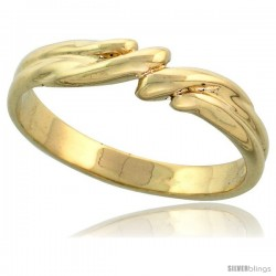 "14k Gold Freeform Wave Ring, 5/32"" (4mm) wide"