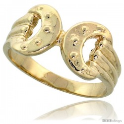 "14k Gold Horse Bit Ring, 3/8"" (10mm) wide"