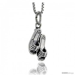 Sterling Silver Sandal Pendant, 5/8 in tall -Style Pa1632