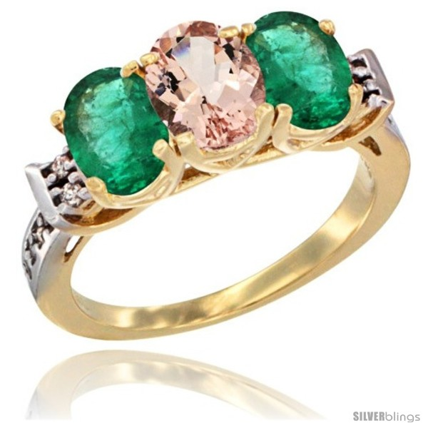 https://www.silverblings.com/69959-thickbox_default/10k-yellow-gold-natural-morganite-emerald-sides-ring-3-stone-oval-7x5-mm-diamond-accent.jpg