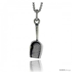 Sterling Silver Shovel Pendant, 5/8 in tall -Style Pa1656