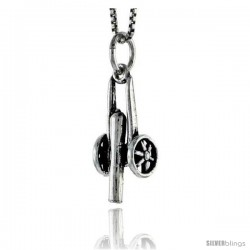 Sterling Silver Canon Pendant, 3/4 in tall