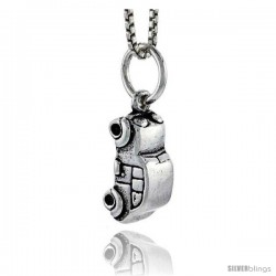 Sterling Silver Car Pendant, 1/2 in tall