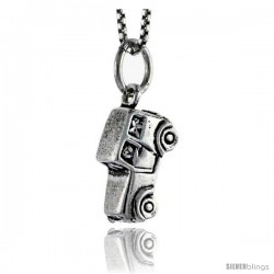Sterling Silver Mid-size Vehicle Pendant, 1/2 in tall