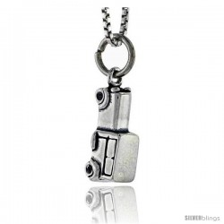 Sterling Silver Mid-size Vehicle Pendant, 1/2 in tall -Style Pa1669