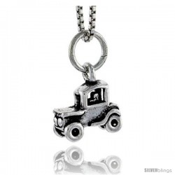 Sterling Silver Jeep Pendant, 3/8 in tall
