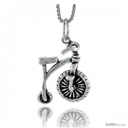 Sterling Silver Bicycle Pendant, 3/4 in tall -Style Pa1675