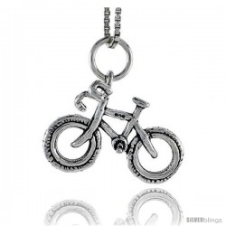 Sterling Silver Bicycle Pendant, 1/2 in tall -Style Pa1676